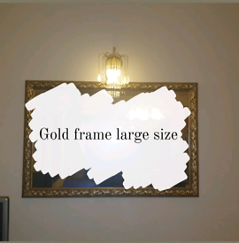 Large gold frame house accesoroes furniture