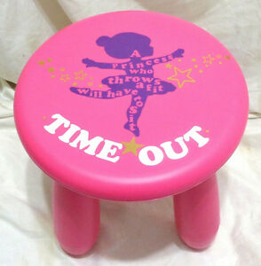 Brand New Kids Ikea Mammut Princess Timeout Stool $20