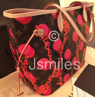 100% Authentic LOUIS VUITTON Ramages Neverfull with Receipt