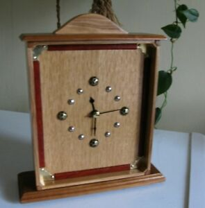 Rob's woodcraft  --  Mantel Clock in Solid Pearwood