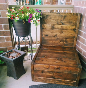 Rustic Wooden Chair $100 (without cushion)