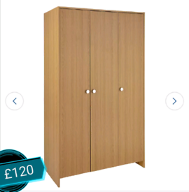 Large wardrobe 3 Door only £120. Real Bargains Clearance Outlet Leices