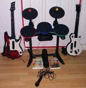 Set hero band et set rock band  pour wii
