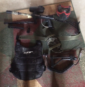 Tippman 98 Custom Paintball Marker and Accessories.