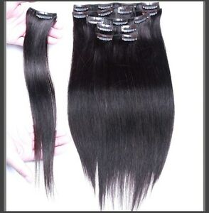 CLIP IN hair extensions,VIRGIN REMY HUMAN HAIR 7A,7 pcs,STRAIGHT Yellowknife Northwest Territories image 4