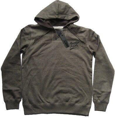 DENIM DEVELOPMENT Sweatshirt mit Kapuze AVERELL Hunter Grey Grösse L XL XXL