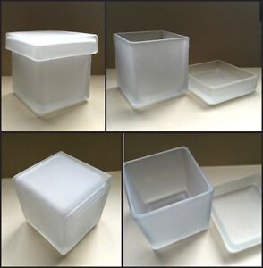 Frosted Glass Jars with Lids (cases of 24) - Niagara Falls