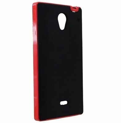 NEW Case-Mate Slim Tough Case for Sharp Aquos Crystal - Black/Red Sharp Aquos Slim
