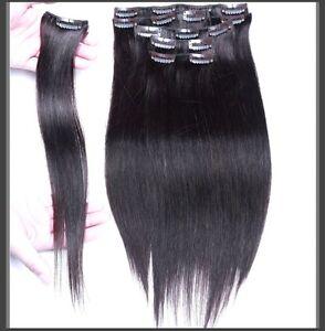 CLIP IN hair extensions,VIRGIN REMY HUMAN HAIR 7A,7 pcs Set St. John's Newfoundland image 4