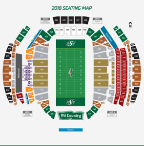 TWO 2018 LOWER BOWL ROUGHRIDER ADULT SEASON TICKETS