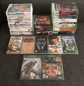 PS3, PSP, Wii, Xbox 360, Xbox One games!