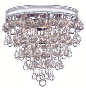 Beautiful Glass drop chandelier with spare drops