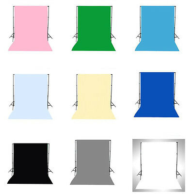 9 Solid Color 5x7FT Vinyl Studio Props Photography Backdrop Photo Background LB