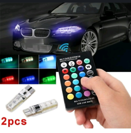 Colour side lights for cars