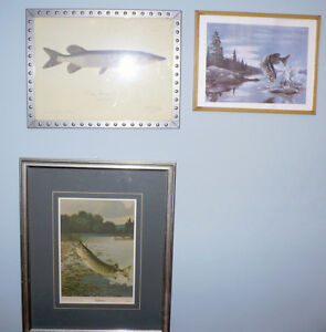Three Wonderful Pieces of Art, Pike, Musky, Large mouth Bass