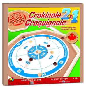 CROKINOLE & CHECKERS WOODEN GAME AT TEDDY N ME