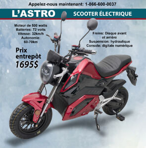 SCOOTER ÉLECTRIQUE L'ASTRO de Fun E-Cycle