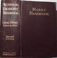 MECHANICAL ENGINEERS' HANDBOOK, MARKS' HANDBOOK, 1924 !!!