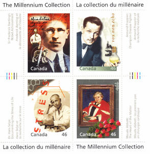 Canada Stamps - The Millennium Collection - Medical Innovators ( West Island Greater Montréal image 1