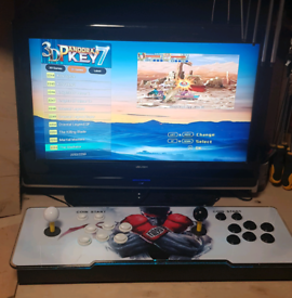 Retro game machine, fight stick , arcade 1000's of games