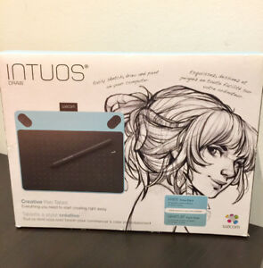 Wacom Intuos Graphic Draw Creative Pen Tablet, limited Mint Blue