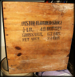 Vintage WOODEN CRATE -- Rare -- OYSTER SAUCE Crate