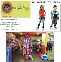 www.bebemeghan.ca - Friperie en ligne pour enfants 0 à 14 ans