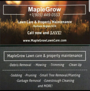 Maplegrow lawn care and property maintenance