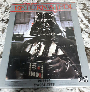 Original 1983 Return of the Jedi Darth Vader Parker Bros. Puzzle