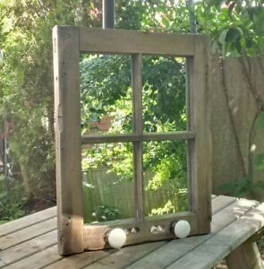 Upcycled antique window-to-mirror