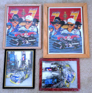 Framed Nascar Pictures 7 Time Champ's Petty Earnhardt Johnson