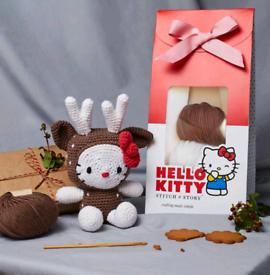 Brand New Knitting Kit - HELLO KITTY: REINDEER AMIGURUMI