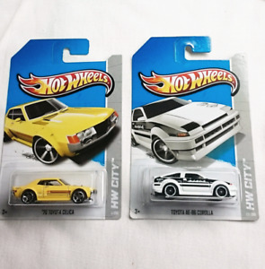 HOT WHEELS TOYOTA 70 CELICA AE 86 COROLLA DIE CAST 1:64 2013