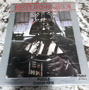 1983 Return of the Jedi Darth Vader Parker Bros. Puzzle