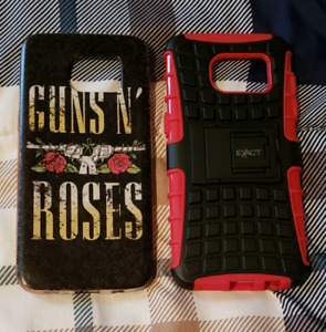 2 mint condition cell phone cases for sale for the S7 edge