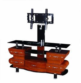 """UNIVERSAL TV STAND WITH BRACKET FOR 32"""" - 65"""" + GLASS TV STAND"""