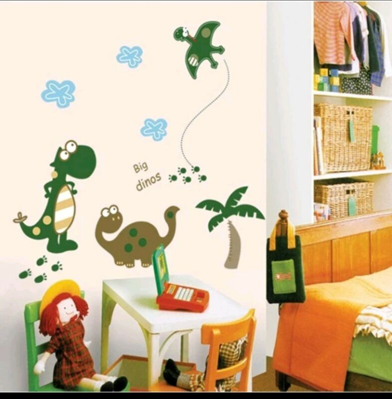 Dinosaur wall decal sticker baby nursery boy girl home decor