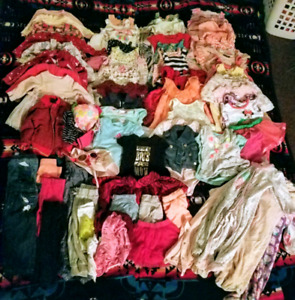 HUGE lot of baby girl clothes 6/12 months