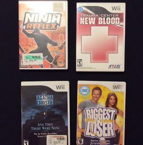 Wii games.  $5 ea.  Or $15 for all 4.