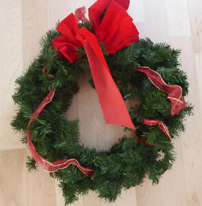 Lots and lots of fake green Christmas wreaths $ 5-$ 10 Kitchener / Waterloo Kitchener Area image 9