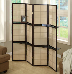 Folding Screen with two Display Shelves