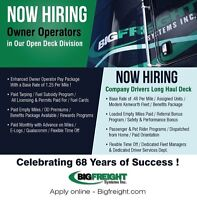 Opportunities  Long Haul Deck Driver for Canada /US lanes