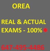 OREA EXAM/NOTES - PASS AT 1ST ATTEMPT. REAL/ACTUAL EXAMS. 100%