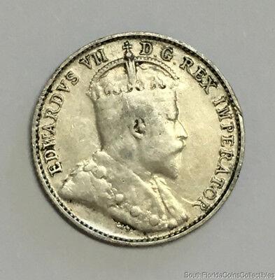 1907 Canada 5 Five Cent .925 Fine Silver Coin
