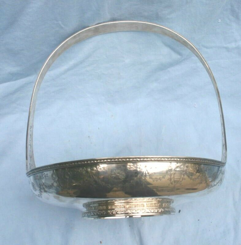 William De Matteo Sterling Silver Sandwich Tray with Blossom #112H #1415