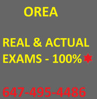 OREA EXAMS/NOTES. REAL & ACTUAL EXAMS FOR ALL COURSES 100%