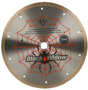 Micro-Segmented Diamond Blade 8 in. Black Widow for Porcelain