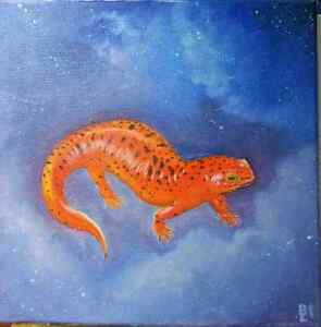 Salamander Oil Painting