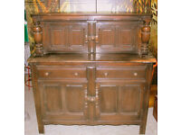 Ercol Court Cupboard- Old Colonial Style - Solid Wood Dresser