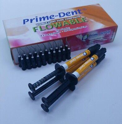 Vlc Light Cure Composite Flowable 4 Syringes Kit B1 Exp102021